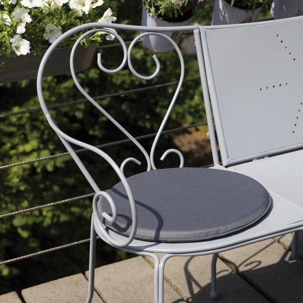 Poduszka na krzesło z magnesem przeciwdziałającym zwiewaniu przez wiatr Nature, kolor szary