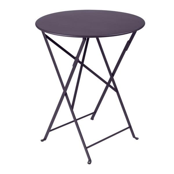 Fioletowy składany stół metalowy Fermob Bistro