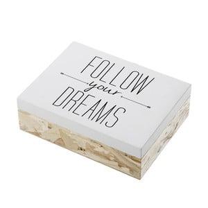 Pojemnik drewniany Unimasa Follow Your Dreams, 20x6 cm