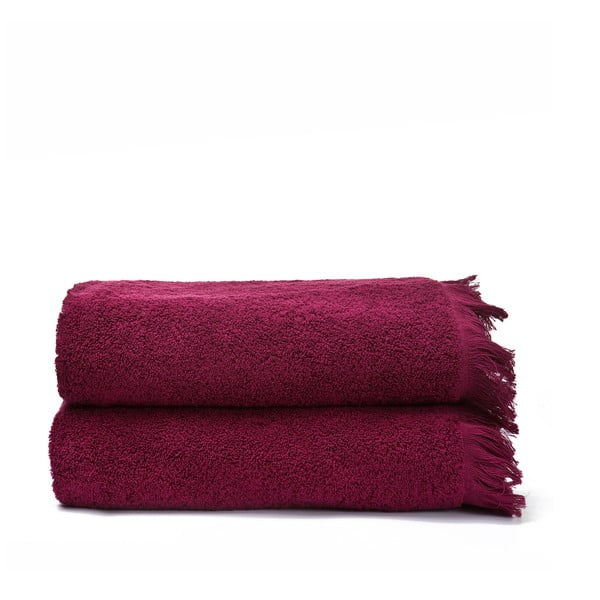 Zestaw 2 ręczników Bath Red, 70x140 cm