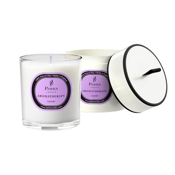 Świeczka o zapachu lawendy Parks Candles London Aromatherapy, 45 godz.