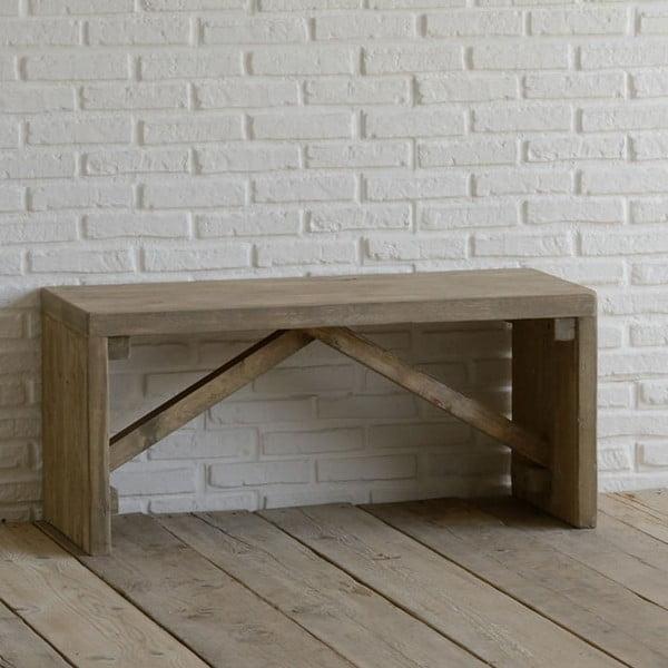Ławka z drewna pozyskanego z recyklingu Old Wood, 45x100 cm