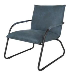 Niebieski fotel Canett Lucan