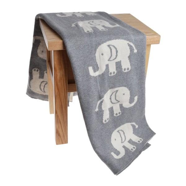 Koc dziecięcy Elephant, 80x100 cm