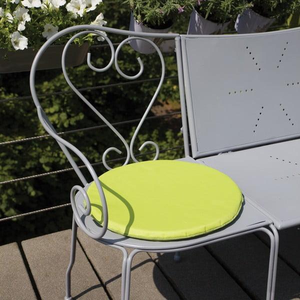 Zielona poduszka na krzesło z magnesem zapobiegającym zwiewaniu przez wiatr Esschert Design Nature