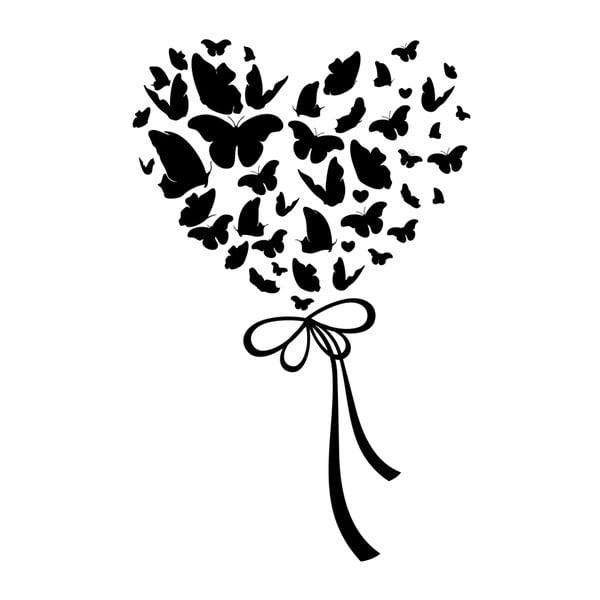 Naklejka Ambiance Cloud Of Butterflies In Heart