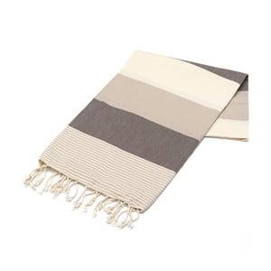 Ręcznik hammam American Fouta Brown, 100x180 cm