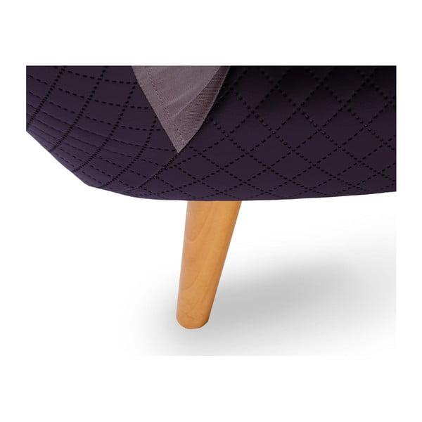 Fioletowa sofa 3-osobowa Scandi by Stella Cadente Maison Meteore