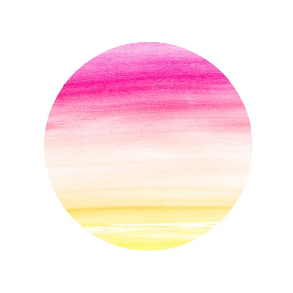 Zestaw 2 stolików Watercolour Sunset, 35 cm + 49 cm
