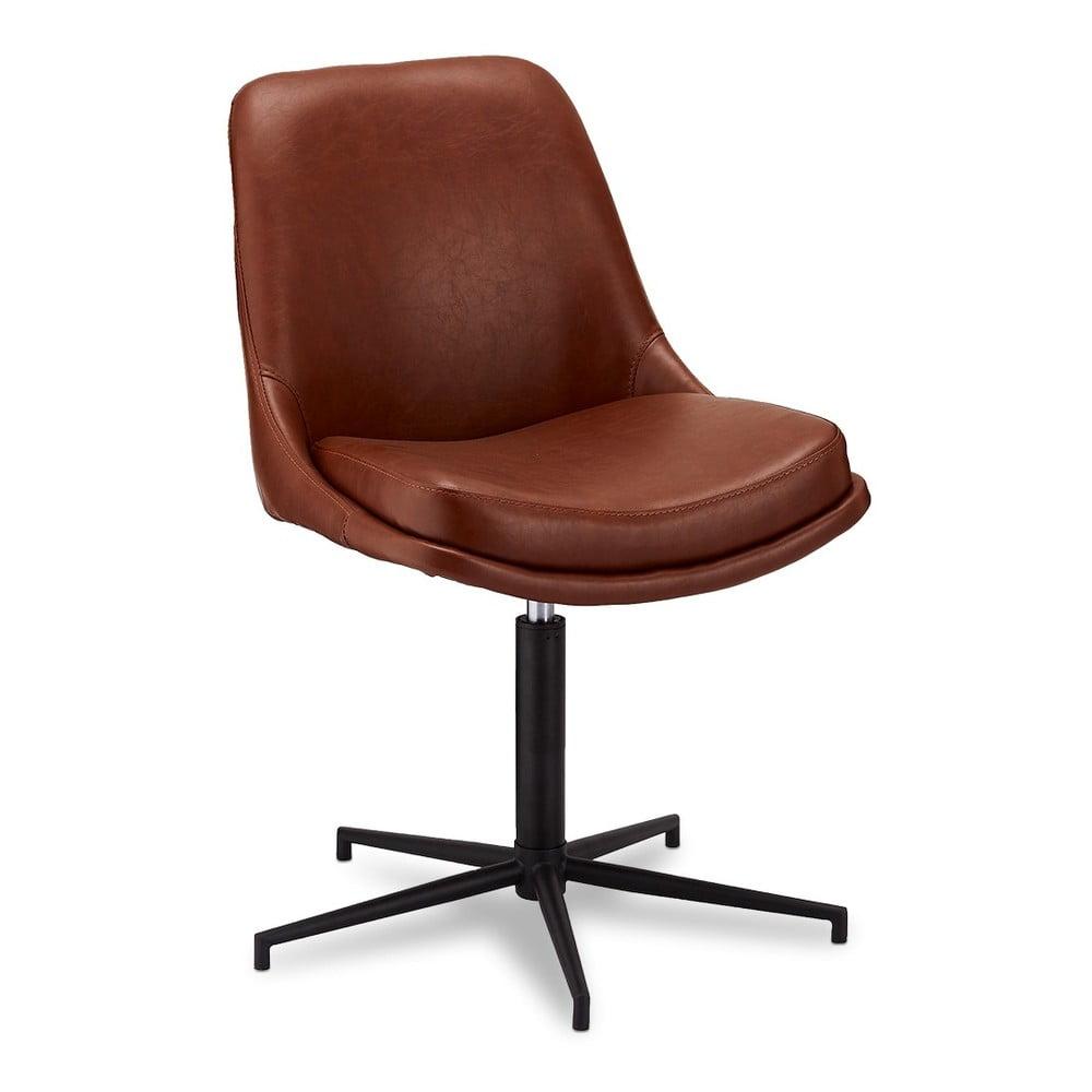 Obracane krzesło do jadalni z tapicerką imitującą skórę Furnhouse Claudia