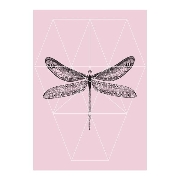 Plakat Pink Fly, A3
