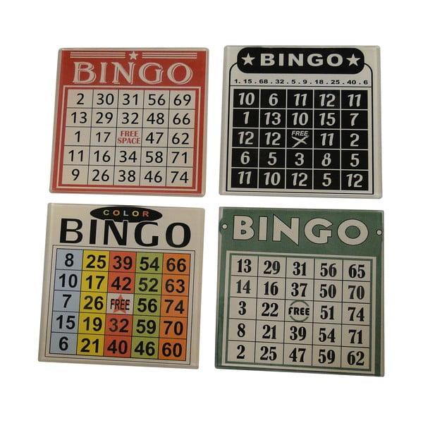 Zestaw 4 podstawek na szklanki Bingo