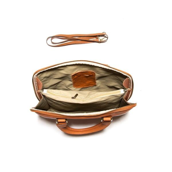 Skórzana torbana notebook Anna Luchini 2120 Cognac
