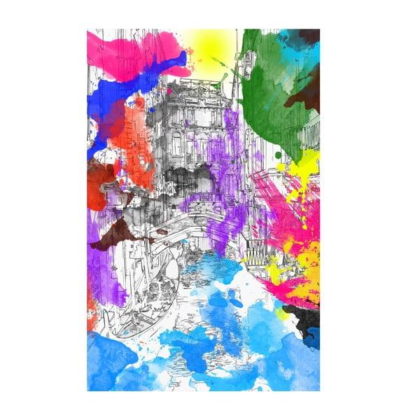 Obraz Tęczowa Wenecja, 45x70 cm