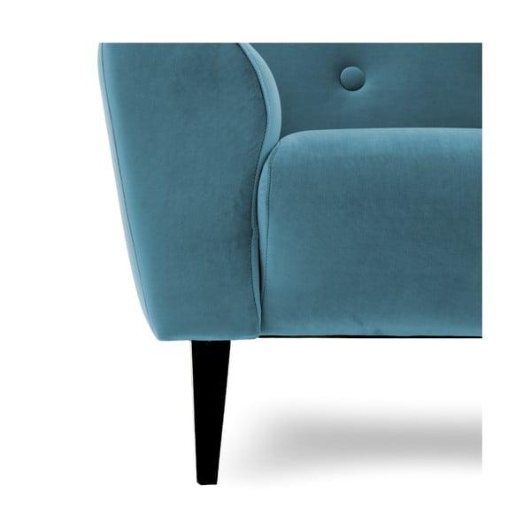 Niebieski fotel Vivonita Klara