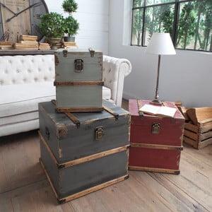 Zestaw 3 dekoracyjnych stolików/kuferków Trunks
