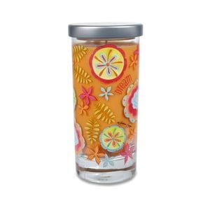 Świeczka zapachowa Glass Bridgewater Candle, kokos, wanilia
