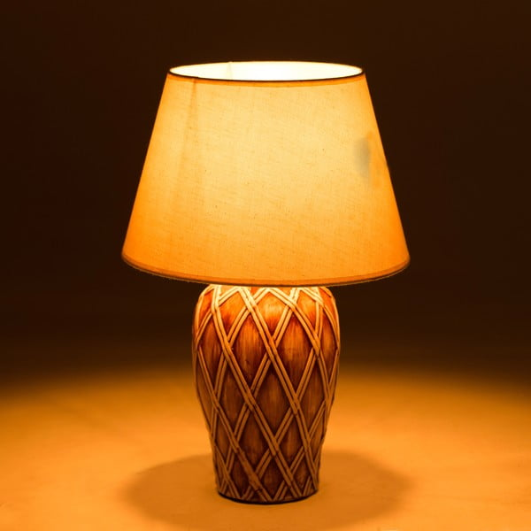 Ceramiczna lampa stołowa Brownsie