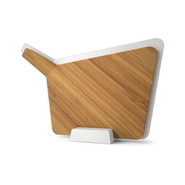 Komplet 2 desek do krojenia ze stojakiem Chopping Board Set, biały