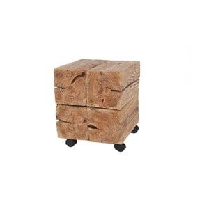 Drewniany stolik na kółeczkach Woodlogs