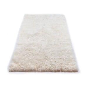 Biały dywan futrzany z krótkim włosiem, 165x100 cm