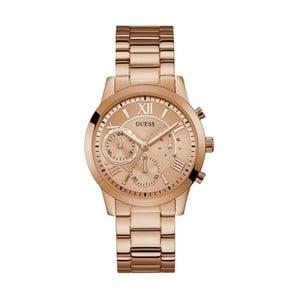 Zegarek damski w różowozłotym kolorze z paskiem ze stali nierdzewnej Guess W1070L3