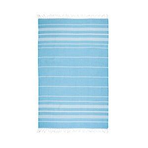Turkusowy ręcznik hammam Kate Louise Classic, 180x100 cm