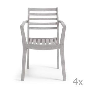 Zestaw 4 jasnoszarych krzeseł La Forma Berkeley