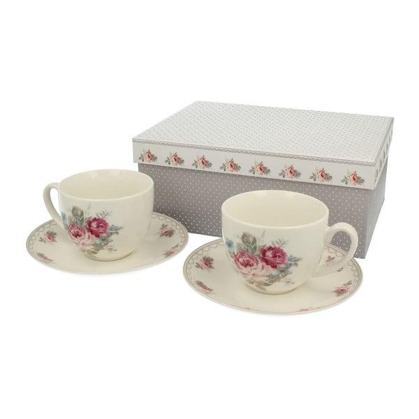 Zestaw 2 porcelanowych kubków Roses
