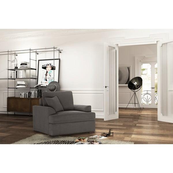 Fotel Jalouse Maison Irina, ciemnobrązowy