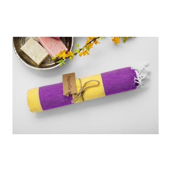 Ręcznik hamam Myra Lilac Yellow, 100x180 cm