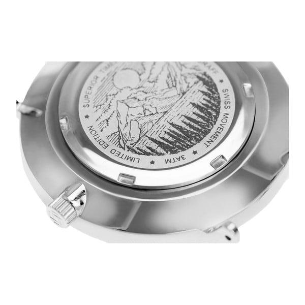 Zegarek damski z białym paskiem skórzanym Frederic Graff Silver Monte Rosa Lychee White Leather