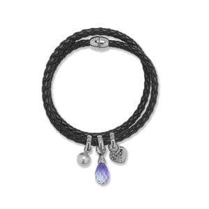 Skórzana bransoletka Swarovski Elements Crystal