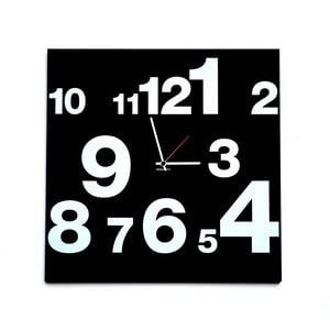 Zegar ścienny dESIGNoBJECT.it Number Line Black,50x50cm