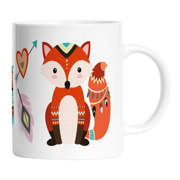 Ceramiczny kubek Two Foxes, 330 ml