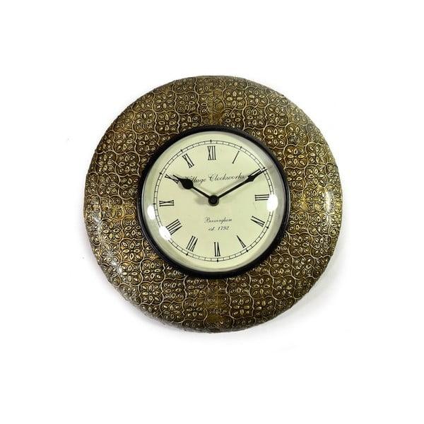 Zegar ścienny z kutego metalu Bihar, 32 cm