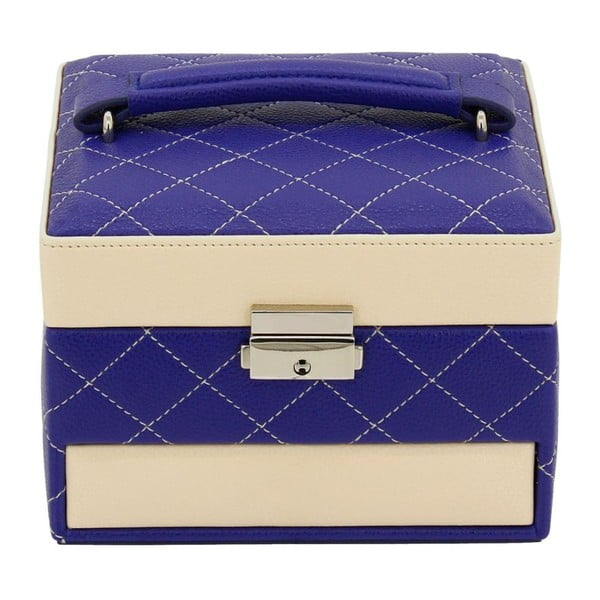 Ciemnoniebieska szkatułka Friedrich Lederwaren Diana