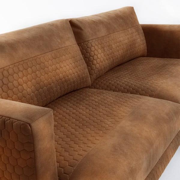 Brązowa sofa 3-osobowa La Forma Vinny