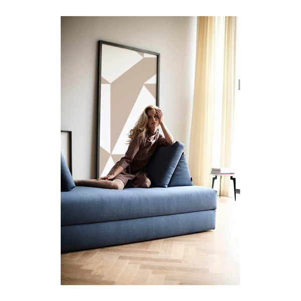 Niebieska sofa ze schowkiem Innovation All You Need