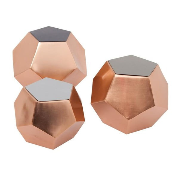 Zestaw 3 pojemników Diamond Black/Warm Grey/Grey