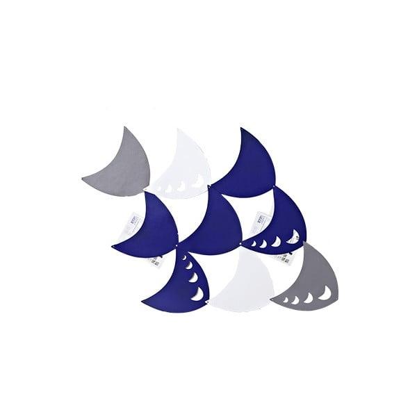 Filcowe kieszonki wiszące Księżyc, niebieski/biały/szary