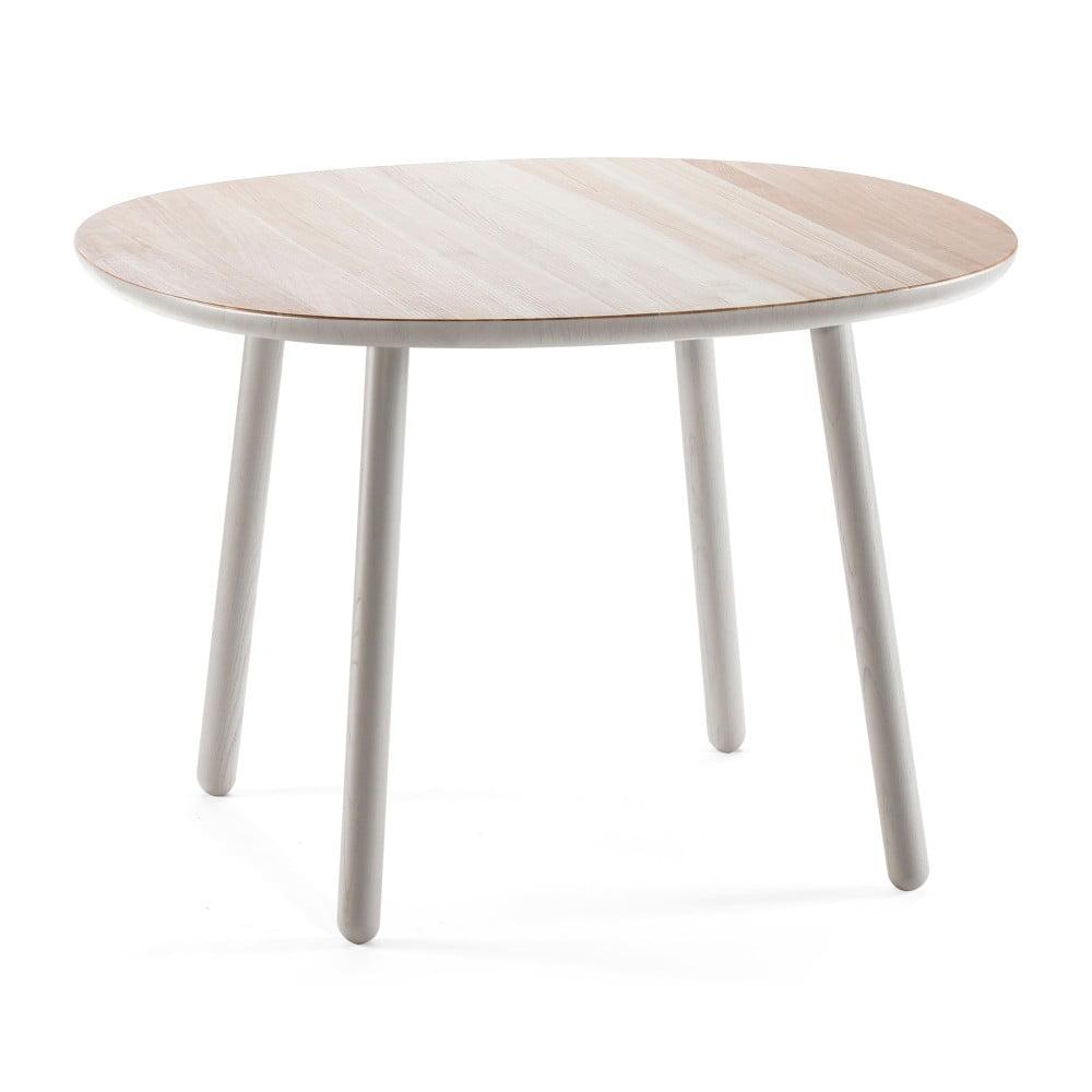 Szary stół z litego drewna EMKO Naïve, 110 cm