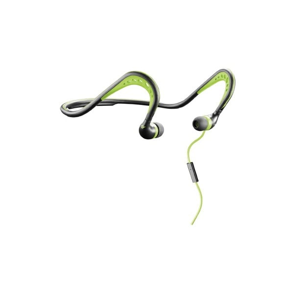 Sportowe słuchawki ergonomiczne CellularLine SCORPION, czarno-zielone