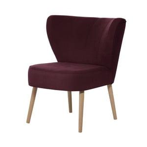 Bordowy fotel My Pop Design Hamilton