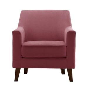 Fotel w kolorze zgaszonego różu Jalouse Maison Kylie