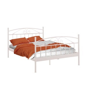 Białe łóżko dwuosobowe Støraa Bibi, 140x200 cm