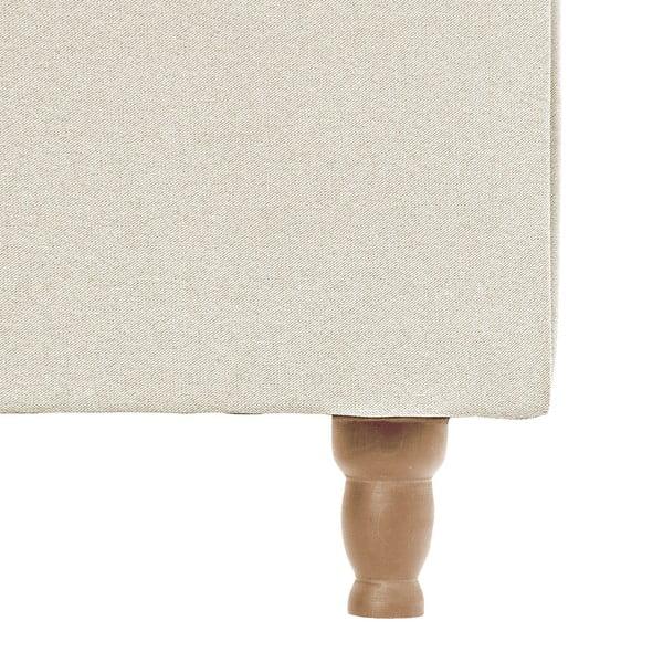 Kremowe łóżko z naturalnymi nóżkami Vivonita Allon, 140x200 cm