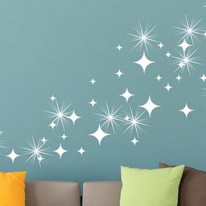 Zestaw 50 naklejki z kryształkami Swarovskiego Fanastick White Star