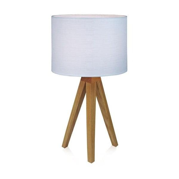 Biała lampa stołowa Markslöjd Kullen, 44 cm