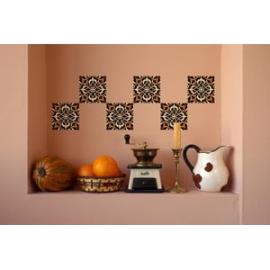 Naklejki Tile Art Brown Ornament, 4 szt.